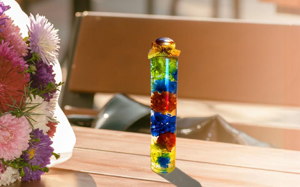 PAVOハーバリウム 円柱ハーバリウムボトル色彩鮮やかなインスタ映え