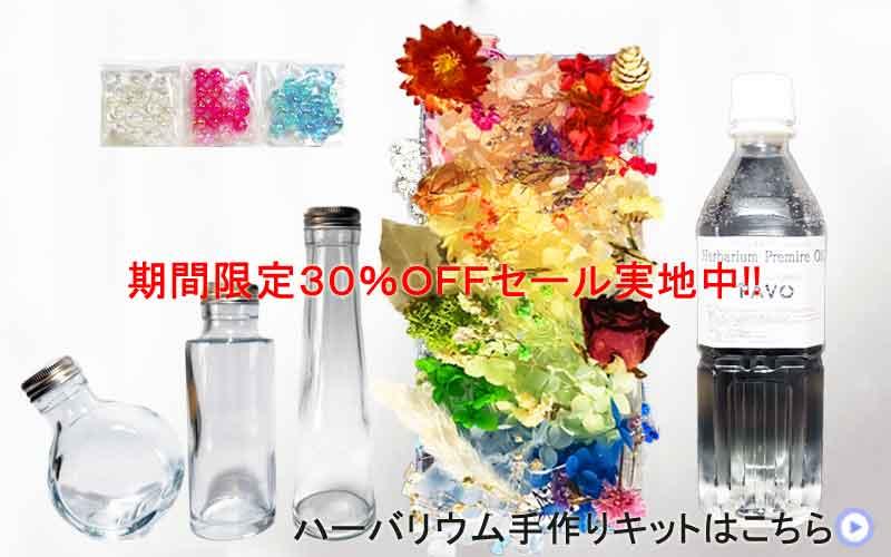 PAVO ハーバリウム手作りキット 花材ハーバリウムオイル各種瓶3本ビーズセット 期間限定30%OFFっセール実地中 ハーバリウム手作りキットはこちら