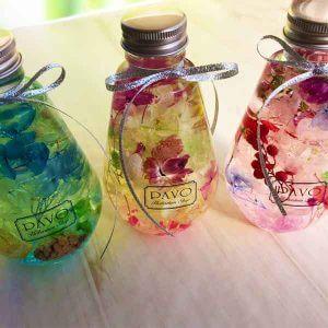 ハーバリウム [Frutas] お祝いや内祝いに 3色 電球型ガラス瓶ボトル