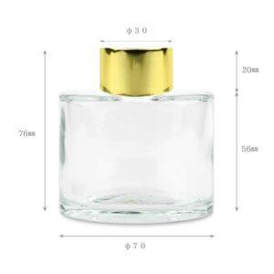 ハーバリウムディフューザー-ガラス瓶-ハーバリウムボトル-ディフューザー瓶-キャップ-ゴールド-サイズ